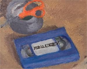 untitled 2 (vhs, tape, scissors), 2018