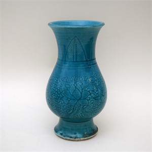 TURQUOISE GLAZED CARVED HU, 18th century