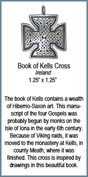 Pendant - Book of Kells Cross - 4370, 2019