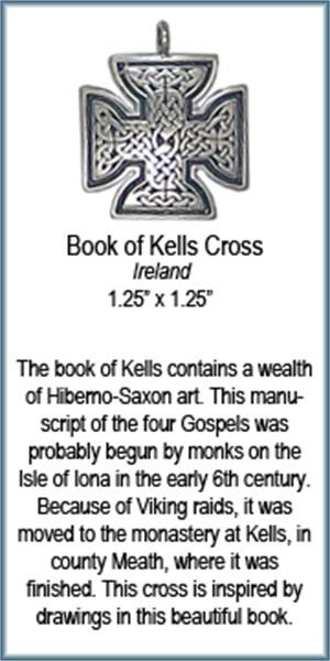 Pendant - Book of Kells Cross - 4370, 2019