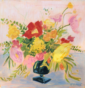 Flowers in Blue Vase , 2020