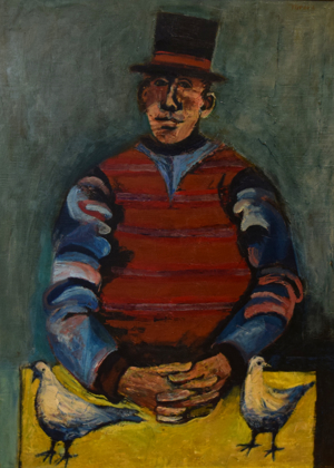 Man with Hat and Birds, c. 1965
