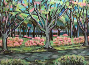 Landscape with Pink and Green, 1976