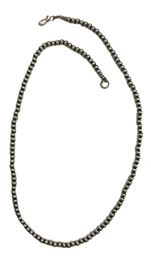 "Necklace - 18"" Single Strand Antiqued Silver Beads 5MM  (Edition 2)"