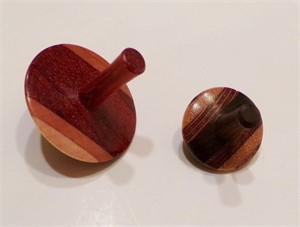 Wooden spinning tops, 2019