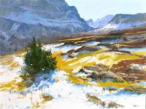 """LORI PUTNAM, OPA, """"Fall at Logan Pass"""""""