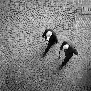 2 Men Walking by Kevin Greenblat