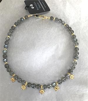 Necklace - Labradorite & Gold Vermeil  #8672, 2020