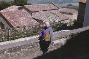 Woman w/Rooftops, Campiglia D'Orcia, Italy, 2005