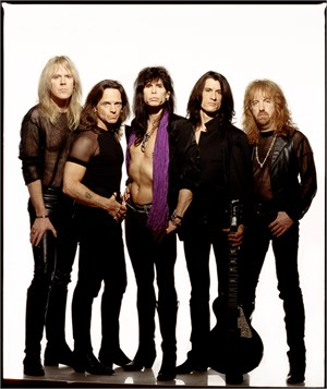 93008 Aerosmith Full Band on White Seamless Color, 1993