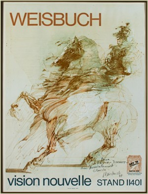 Affiche - Le Condottiere, signed inscribed to D.B., 1978