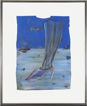 Leg & Shoe in Blue, 1997