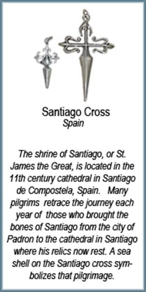 Pendant - Santiago Cross - 6744, 2019