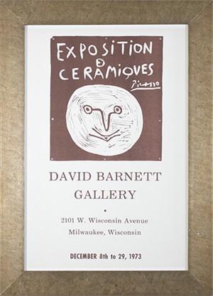 Exposition Ceramiques Picasso David Barnett Gallery, 1973