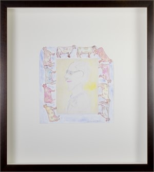 Homage to Schomer Lichtner in Cow Frame #2, May 2018