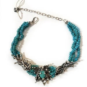 Necklace - Turquoise and Anemone (31293), 2018
