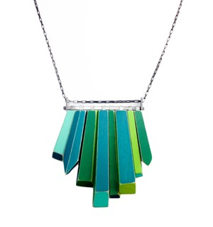 Sterling Silver Painted Maple Wood Bartlett Necklace