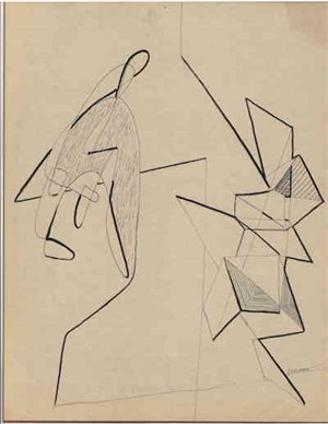 Angular Drawing, c. 1938-40