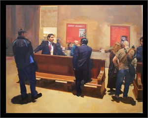 """JANE KLESH BUTKOVSKY, """"In the Lobby"""""""