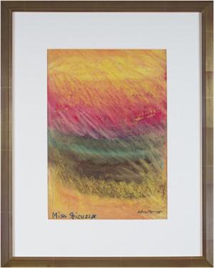 Color Field (Chalk on Wet Paper) written on upper left, c.1960