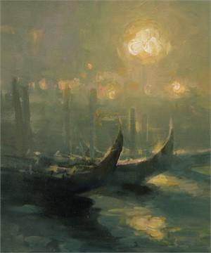 Lanterns in the Fog