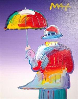 Umbrella Man on Purple, 2019