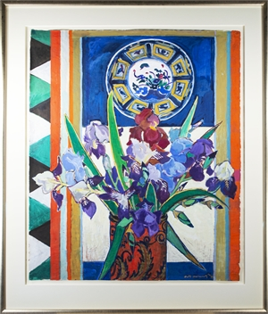 Still Life with Irises by Ruth Grotenrath