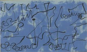 Figures Against Blue Sky Maeght 166 Pl. #3 Vol 2 Lithos by Joan Miro