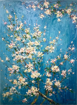 TEAL CHERRY BLOSSOMS