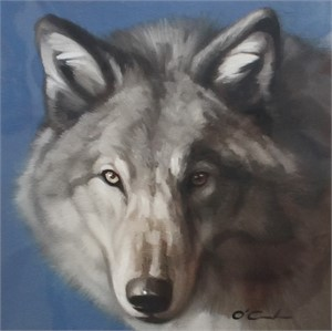 Wolf on Cool Blue (2/25), 2018