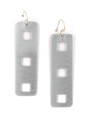 Silver Powder-Coated Aluminum Earrings