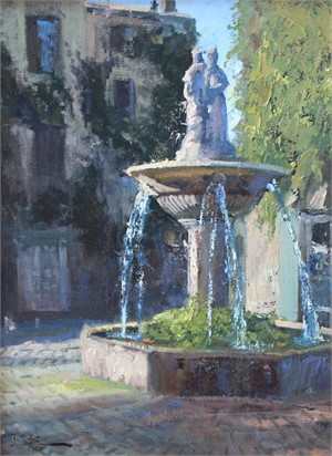 Fountain in Saignon, 2018