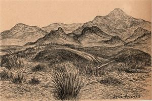 Untitled (Desert Landscape), c. 1950s