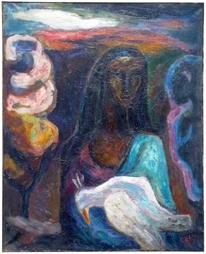 Gitane Avec L'oiseau Blesse, 1963