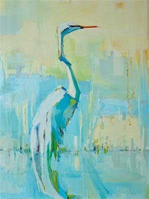 Summer Heron by Kathleen Broaderick