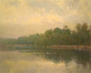 "JOHN H MACDONALD, ""Hudson River Dusk"""