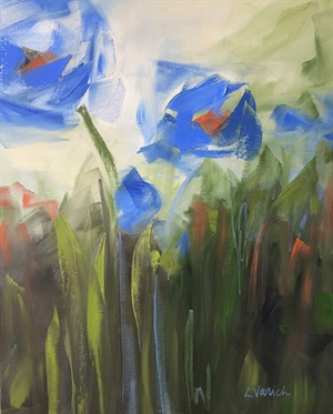 Blue Poppies  by Laura Varich
