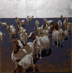 Herd on Blue