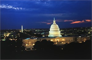 US Capitol- East Front at Night