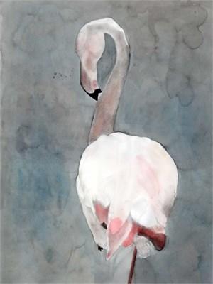 """Camargue Flamingo """"Balancing Act 1"""", 2015"""