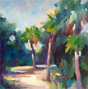 Beckoning Path & Three Palms
