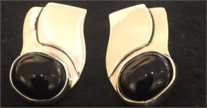 Sterling Black Onyx Post Earring 272