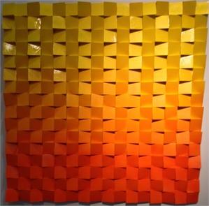 Neon Waves Orange/Yellow Ombre, 2019