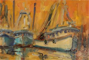 Three Shrimp Boats