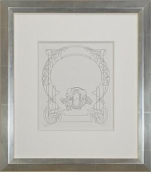 """From: Ilsee, Princess of Tripoli Recto: """"Title Page"""" Verso: """"Art Nouveau Motif"""", 1898"""
