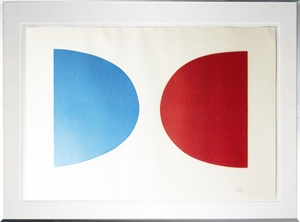 Red and Blue Curves (58/75), c. 1964