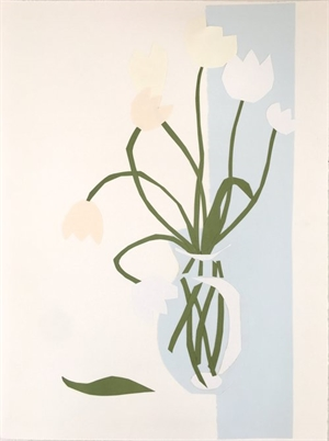 Collage, White Tulips II, 2019