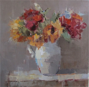Bouquet with Red by Barbara Flowers
