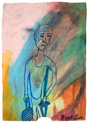 Man With Crutch, 1999