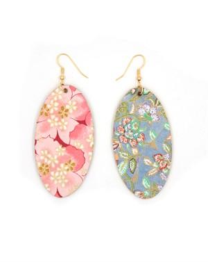Japanese Paper & Balsa Wood Earrings